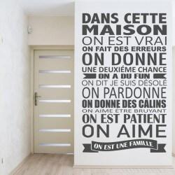 Sticker mural phrases maison