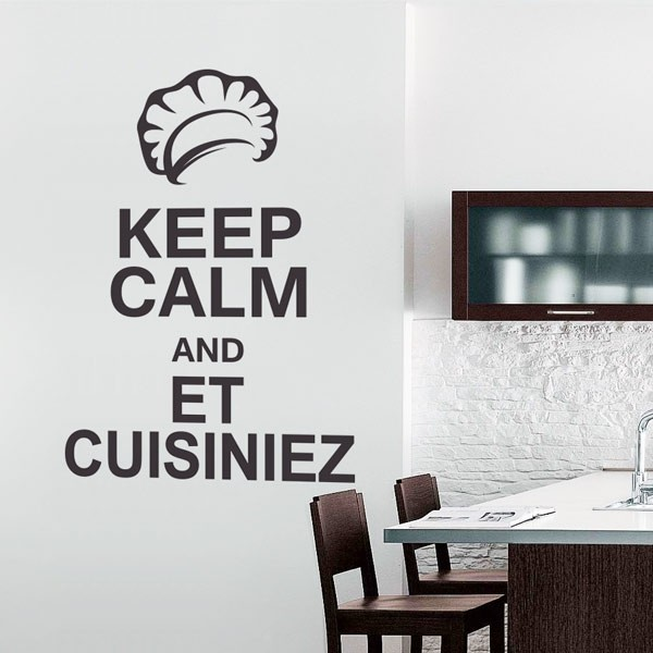 Adhésif keep calm cuisinez