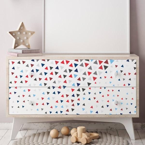 Triangles color s 2 stickers pour votre meuble - Stickers pour meuble ...