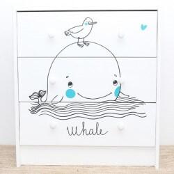 Sticker La baleine et le...
