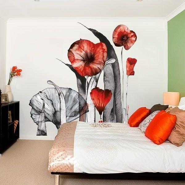 Adhésif déco illustration fleurs