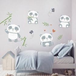 Sticker bébé petits pandas