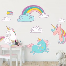 Sticker enfant licornes