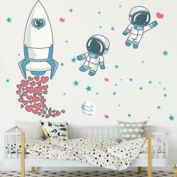 Sticker enfant astronautes