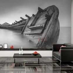 Déco murale bateau, noir et...