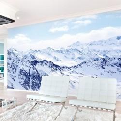 Papier peint  neige en montagne