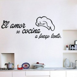 Sticker El amor se cocina