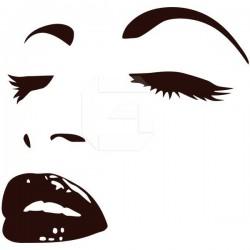 Adhésif le visage de la Femme 1