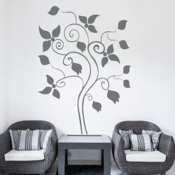 Sticker mural arbre 16