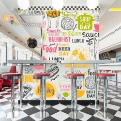 Papier peint fast food