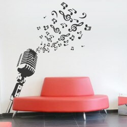 Sticker mural microphone 1