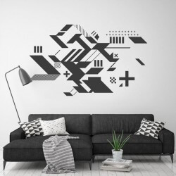 Sticker formes abstraites
