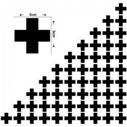 Sticker silhouette d'une croix