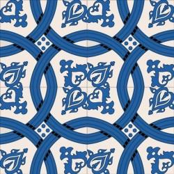 Adhésif carrelage bleu 2