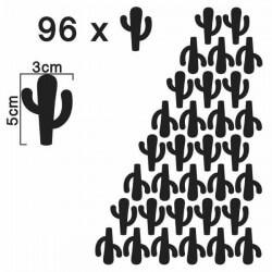 Sticker silhouettes de cactus