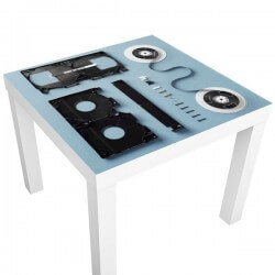 Sticker table ikea cassette...
