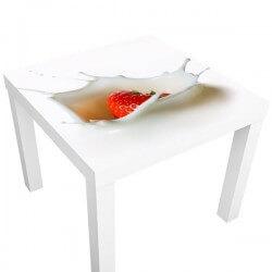 Adhésif table ikea fraise...