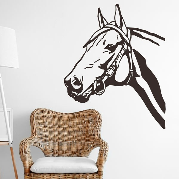 Stickers animaux avec cheval
