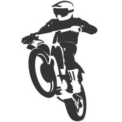 Autocollant mural motocross