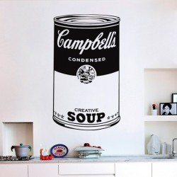 Sticker pop art Campbell's...