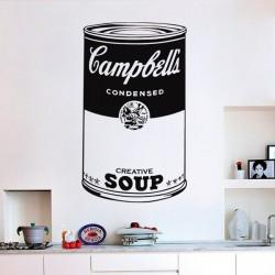 Sticker pop art Campbell's...
