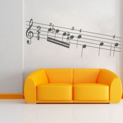 Sticker partitions de musique