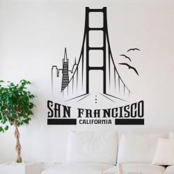 Sticker mural San Francisco