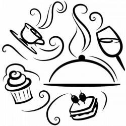 Sticker cuisine nourriture et boissons