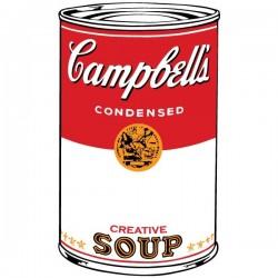 Autocollant pop art  Campbell's soup