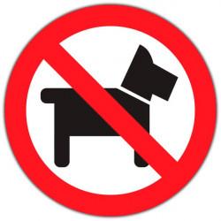Sticker entreprise chiens interdits