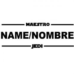Sticker maître Jedi avec nom