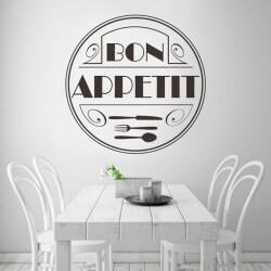 Cercle autocollant bon appétit