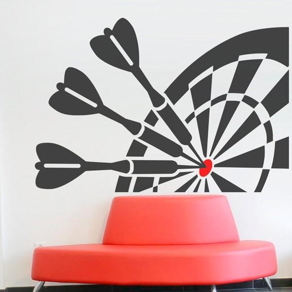 Sticker mural jeu de fléchettes