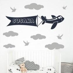 Sticker phrases avion pour...