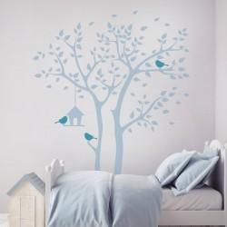 Sticker la maison de l'oiseau