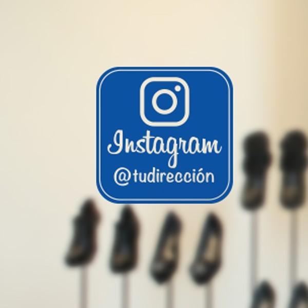 Sticker vitrine instagram