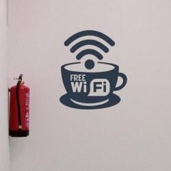 Sticker pour entreprise free wifi