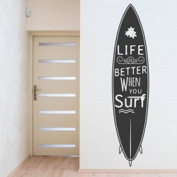 Sticker mural surf
