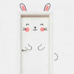 Sticker porte enfant Lapin