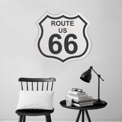 Sticker mural Route U.S. 66