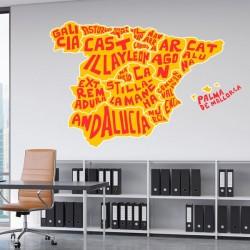 Sticker carte de l'Espagne