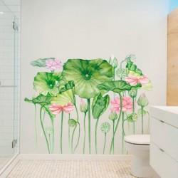 Sticker mural fleurs exotiques