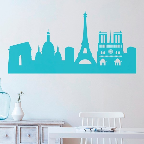 Sticker skyline Paris