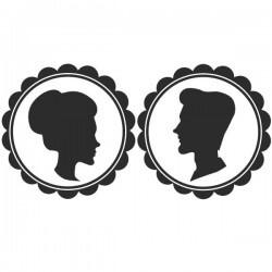 Sticker silhouettes pour portes