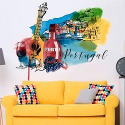 Adhésif mural aquarelle...