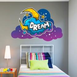Sticker pop art dream