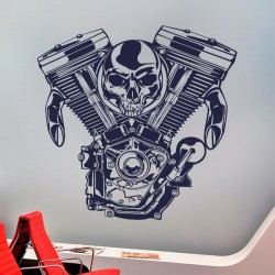 Sticker moteur moto