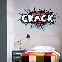Adhésif pop art crack