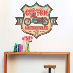 Sticker moto California custom