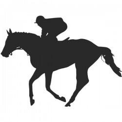 Autocollant cheval